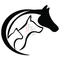 Love Animals Farm Horse Decal Sticker Style 1