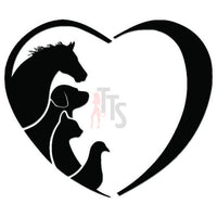 Love Animals Farm Horse Decal Sticker Style 2