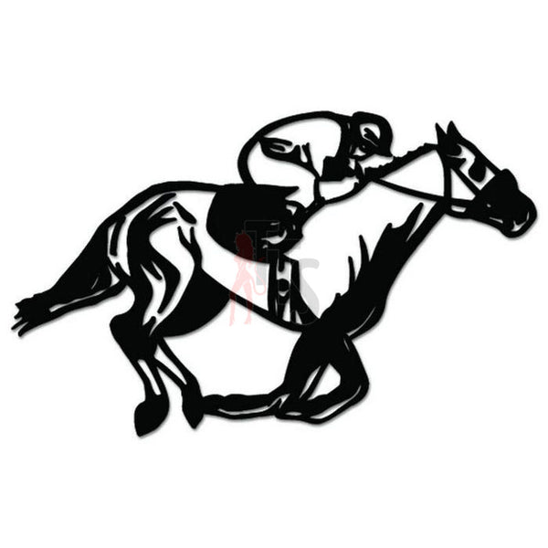 Horse Racing Track Jockey Decal Sticker Style 1