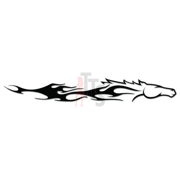 Horse Race Tribal Art Decal Sticker Style 2