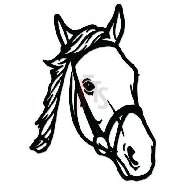 Horse Head Decal Sticker Style 7