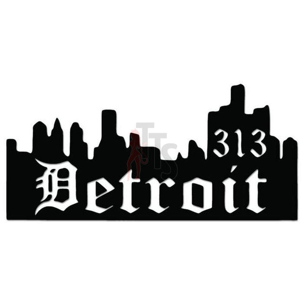 Detroit City 313 Area Code Decal Sticker