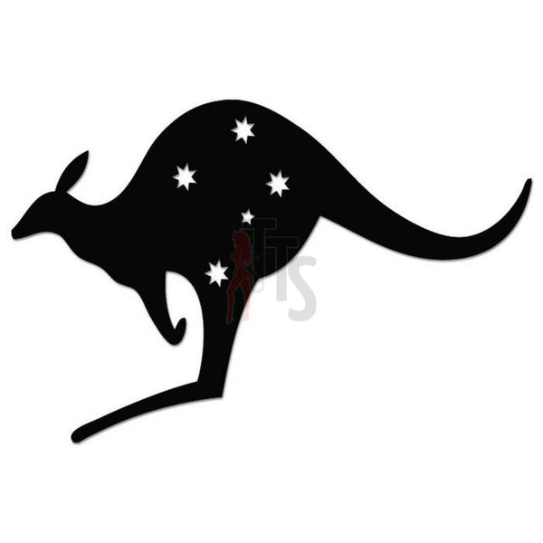 Southern Cross Stars Kangaroo Australia Decal Sticker
