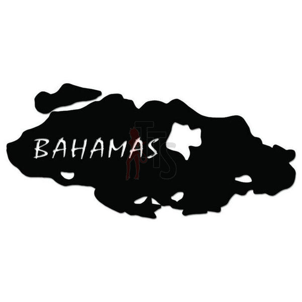 Bahamas Island Map Decal Sticker