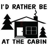 Cabin Wood Outdoor Decal Sticker