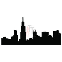 Chicago City Skyline Decal Sticker Style 2