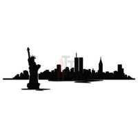 New York City Skyline Decal Sticker
