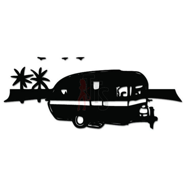 RV Palm Trees Retirement Decal Sticker