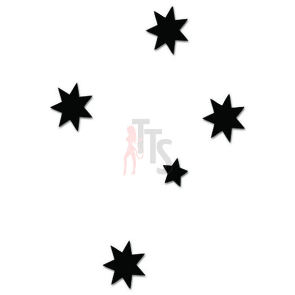 Southern Cross Stars Australia Decal Sticker Style 1