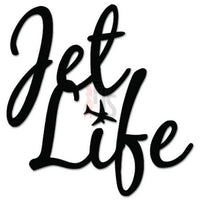 Jet Life Air Travel Decal Sticker