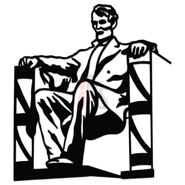Lincoln Memorial Monument President Decal Sticker Style 2