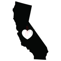 Love California State Map Decal Sticker