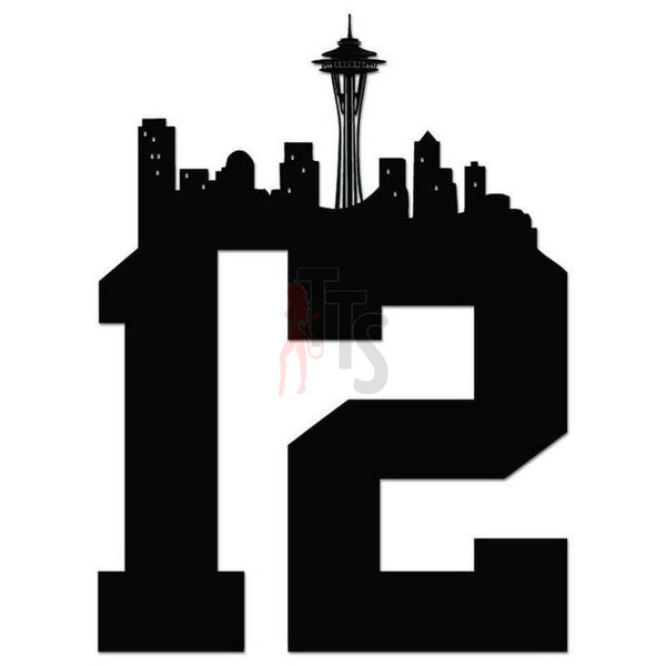 Seattle Seahawks 12th Man Fans Decal Sticker