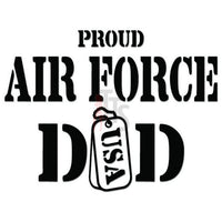 Proud Air Force Dad Military Decal Sticker