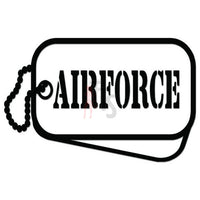 Air Force Miltary Tags Decal Sticker