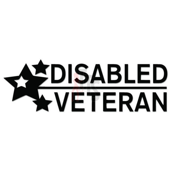 Disabled Veteran USA Military Decal Sticker