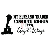 Husband Fallen Soldier Angel Wings Decal Sticker