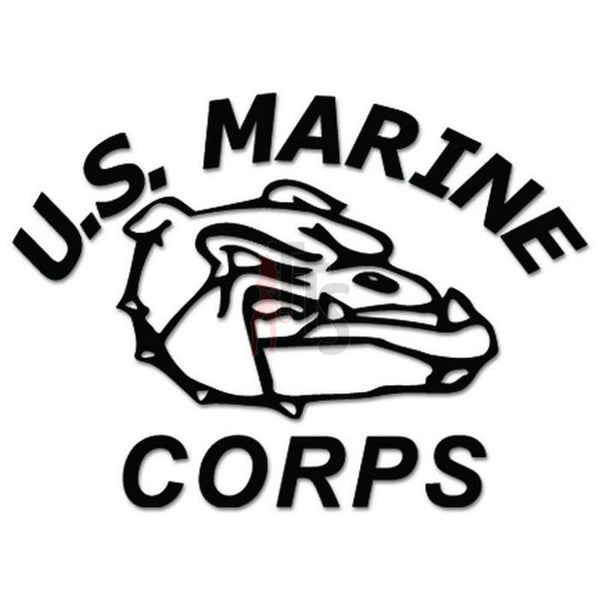 US Marine Corps Bulldog Decal Sticker