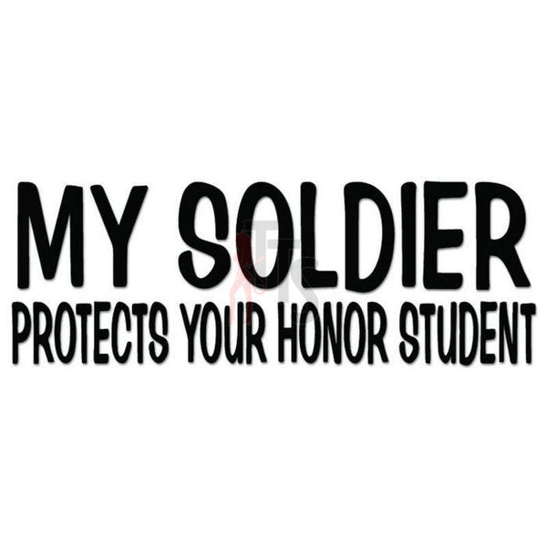 Soldier Protects Students Military Decal Sticker