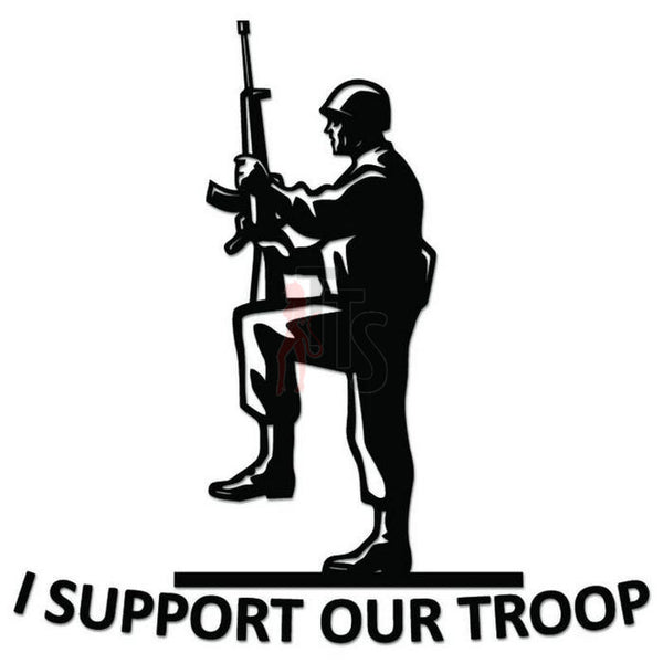 Support Our Troop Solider Decal Sticker