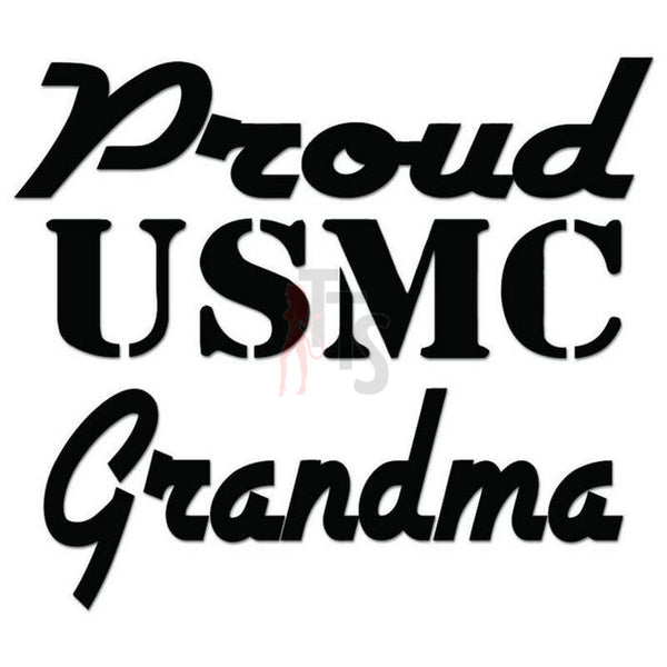 Proud USMC Grandma USA Military Decal Sticker