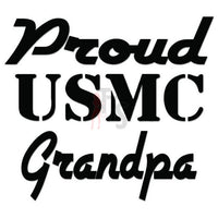 Proud USMC Grandpa USA Military Decal Sticker