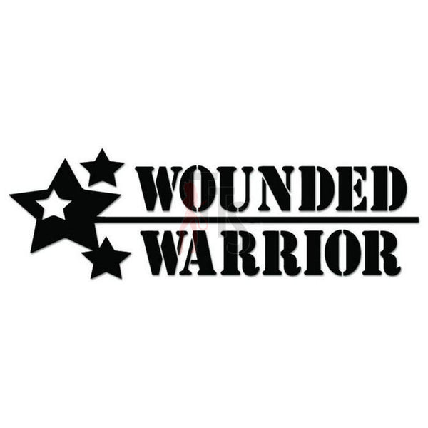Wounded Warrior Military Decal Sticker