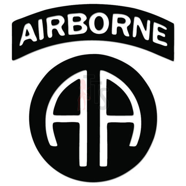 82nd Airborne Division Insignia Parachuting Decal Sticker