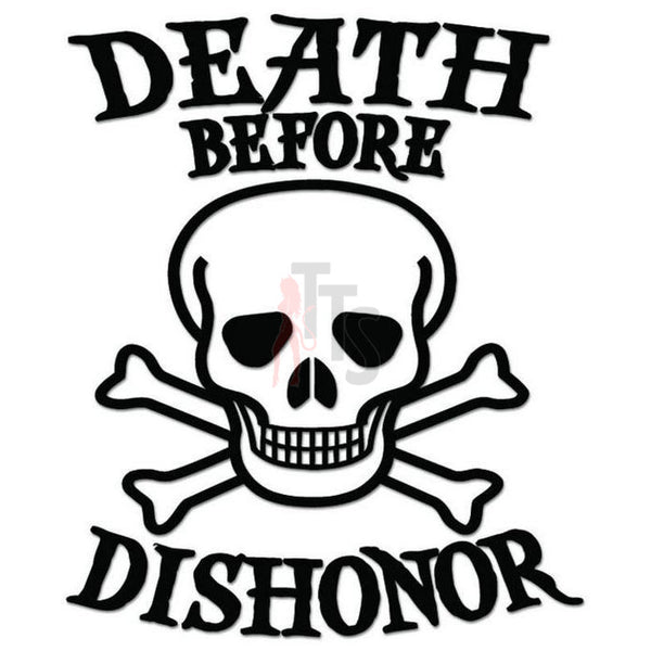 Death B4 Dishonor Military Skull Decal Sticker