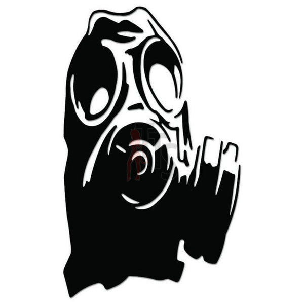 Military Gas Mask Decal Sticker
