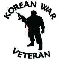 Korean War Veteran Soldier Decal Sticker