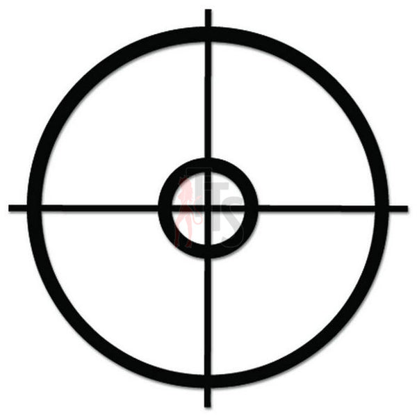 Sniper Scope Crosshair Guns Military Decal Sticker Style 2