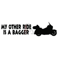 My Other Ride Honda Bagger Motorcycle Decal Sticker