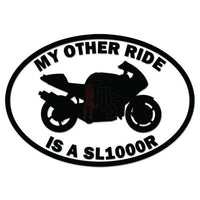 My Other Ride Aprilia SL1000R Motorcycle Decal Sticker