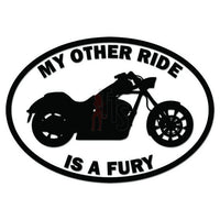 My Other Ride Honda Fury Motorcycle Decal Sticker