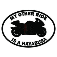 My Other Ride Suzuki Hayabusa Motorcycle Decal Sticker
