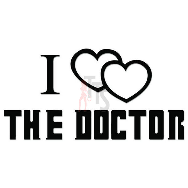 I Love Doctor Who Decal Sticker