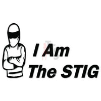 I Am The Stig Decal Sticker Style 3
