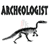 Archeologist Dinosaur Decal Sticker