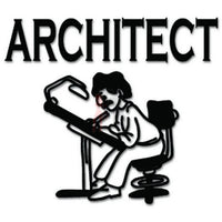 Architect Building Decal Sticker