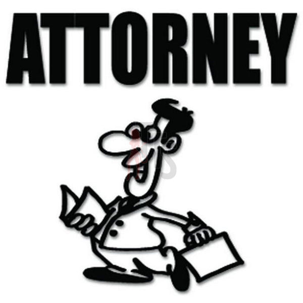 Attorney Lawyer Decal Sticker