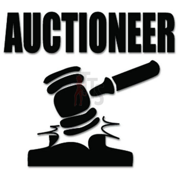 Auctioneer Auction Decal Sticker