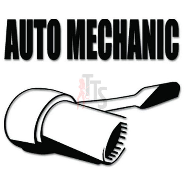Auto Mechanic Wrench Decal Sticker Style 2
