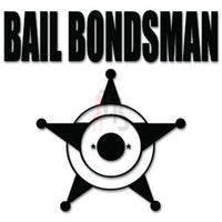 Bail Bondsman Decal Sticker