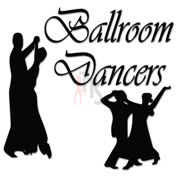 Ballroom Dancers Decal Sticker