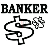 Banker Money Bank Decal Sticker