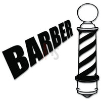 Barber Haircut Decal Sticker