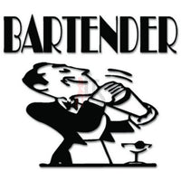 Bartender Alcohol Drinks Decal Sticker
