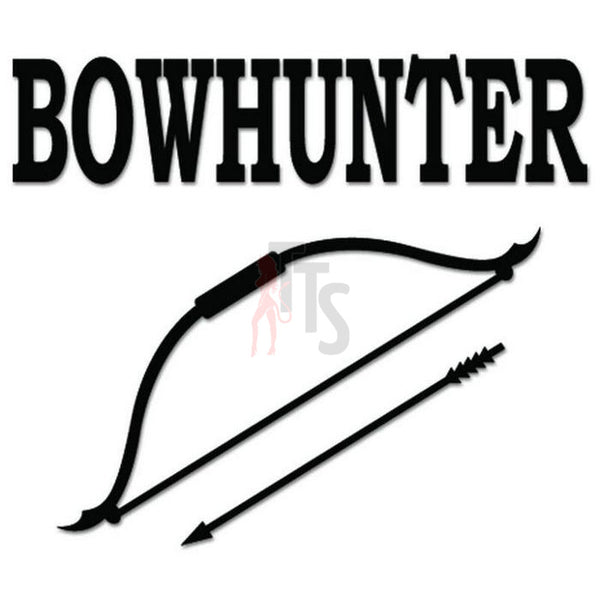Bowhunter Bow Arrow Decal Sticker