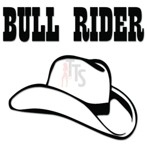 Bull Rider Cowboy Decal Sticker